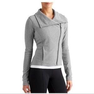 Athleta City Limits Jacket Asymmetrical Sweater